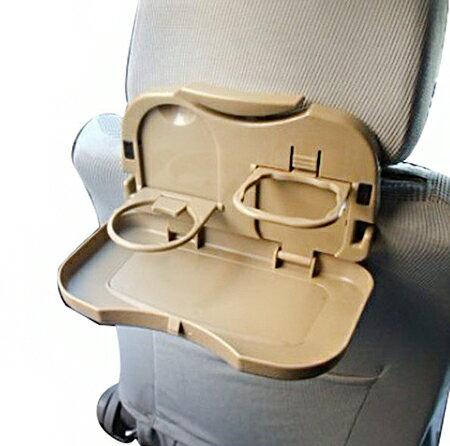 【省錢博士】車用多功能椅背飲料架 / 汽車杯架 置物架 / 餐盤 折疊式飲料架