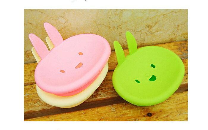 【省錢博士】卡通可愛小兔香皂盒 / 可愛笑臉肥皂盒 /  不挑色