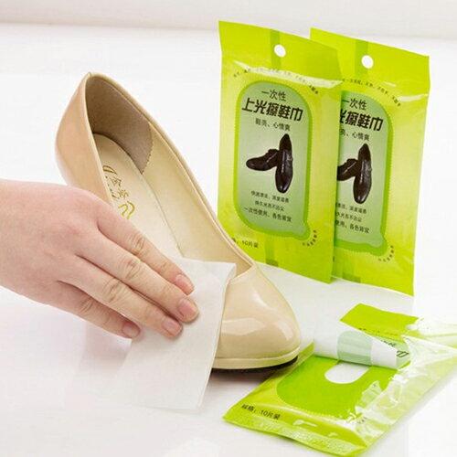 【省錢博士】護鞋士 一次性去污上光擦鞋巾 皮具護理濕巾 / 10片入 - 限時優惠好康折扣