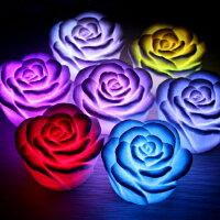 元宵節推薦【省錢博士】浪漫七彩玫瑰小夜燈 /   七色漸變