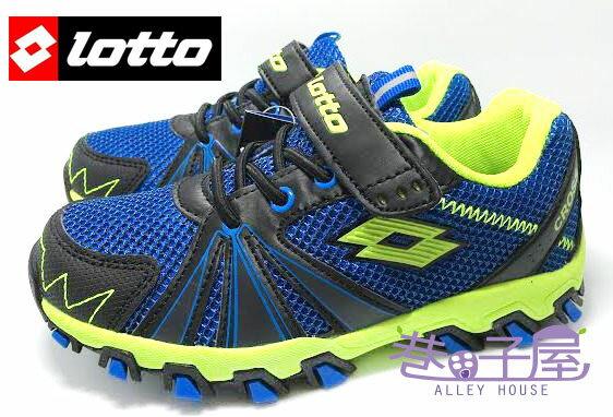 【巷子屋】義大利第一品牌-LOTTO樂得 男童五大機能超輕量越野跑鞋 防臭 [2206] 藍 超值價$498