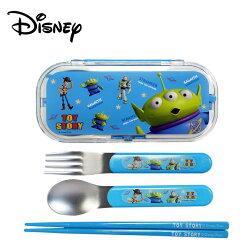 【日本正版】玩具總動員 三件式 餐具組 環保餐具 三眼怪 胡迪 巴斯光年 迪士尼 Disney - 265655