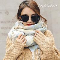 圍巾披肩 AngelNaNa 韓版熱賣仿羊絨格子菱格拼色2way女圍巾 【SA0012】-AngelNaNa-女裝特惠商品