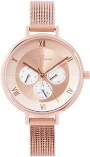 【完全計時】手錶館│MaxMax都會風MAS7024-3指南三眼系列316ML經典米蘭錶帶玫瑰金