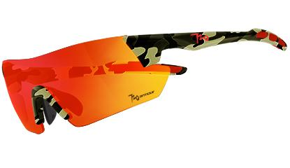 720armour Kamikaze 單車三鐵廣角運動太陽眼鏡 B369-8 霧茶迷彩框灰紅鍍膜防爆PC片