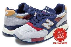 ☆Mr.Sneaker☆ NEW BALANCE 998 Made in USA 美製 ABZORB 藍 灰 限定款 男段
