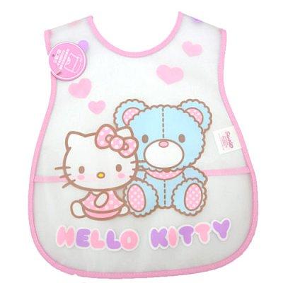 【真愛日本】14070200004 EVA圍兜-與熊愛心 三麗鷗 Hello Kitty 凱蒂貓 嬰兒圍兜兜