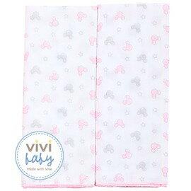ViViBaby - Disney迪士尼超柔紗布澡巾2入 (粉) 0