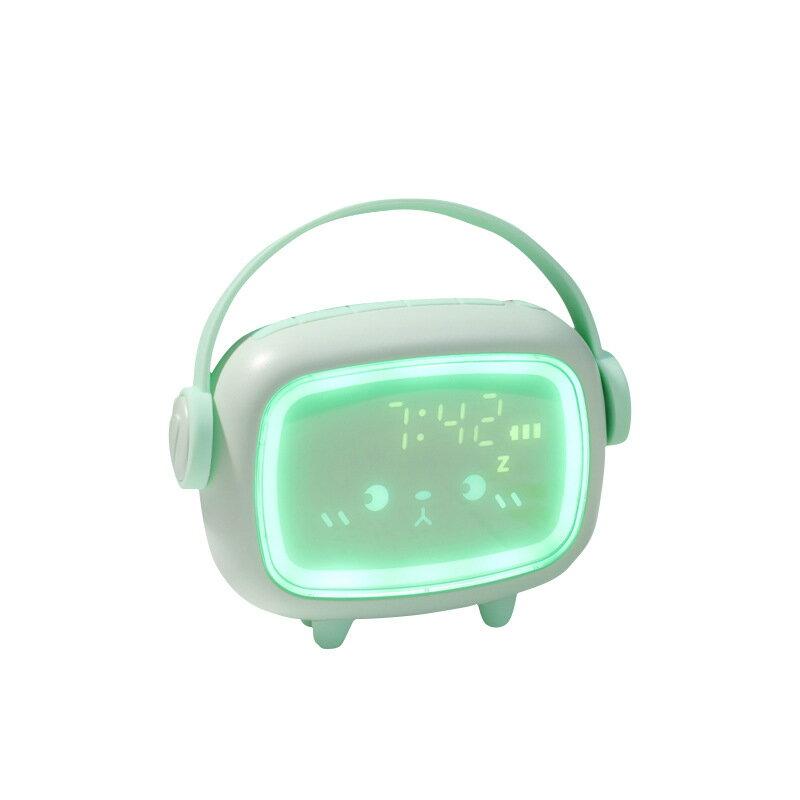新款時光天使鬧鐘 兒童創意充電電子小鬧鐘多功能led夜燈數字鬧鐘