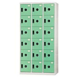 【nicegoods】多功能置物櫃/18格(ABS門片) -粉綠(收納櫃 整理櫃)