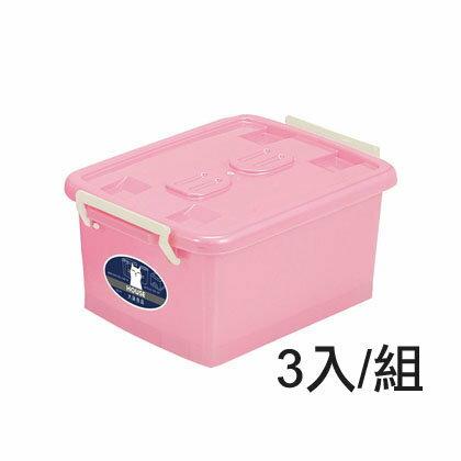【nicegoods】 彩瓷-滑輪整理箱(L)(90公升)(3個/組)(掀蓋 塑膠 收納箱)