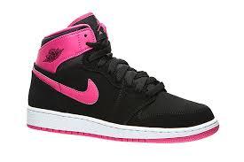 NIKE AIR JORDAN 1 RETRO HIGH 黑 桃粉 大童鞋 女鞋 US 4.5~7 332148-008 J