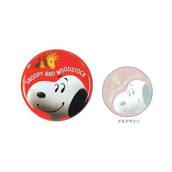 【真愛日本】15121100015 圓鐵盒便條本-SN大臉紅 史努比 Snoopy 文具用品 便條紙 MEMO 紙製