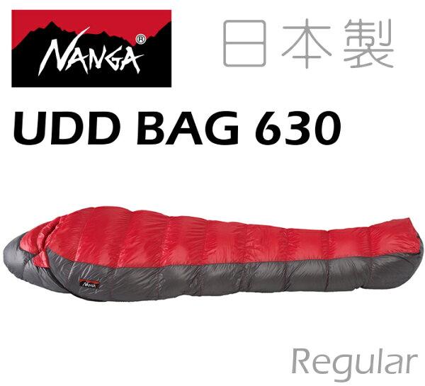 Nanga日本製羽絨睡袋登山睡袋UDD630法國頂級白鴨絨770FP撥水處理24563紅色