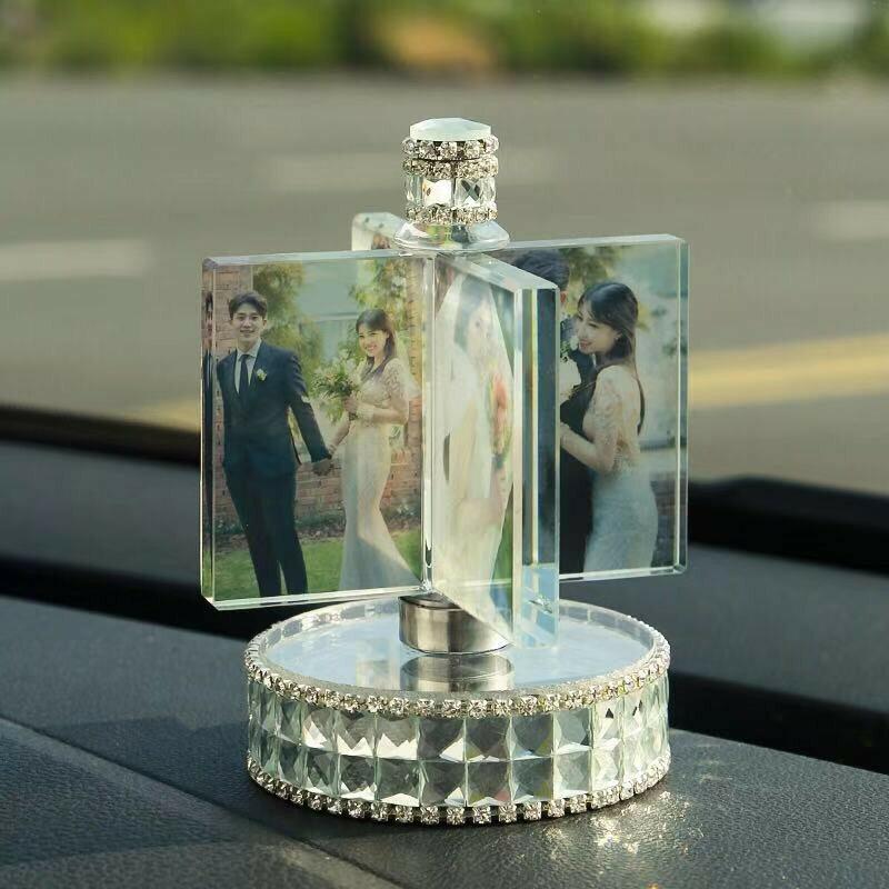 熱銷新品 汽車 汽車擺件 情人節禮物 禮物 聖誕禮物 生日禮物 DIY 客製化照片 傳四張照片至聊聊訂製 相冊 水晶LED