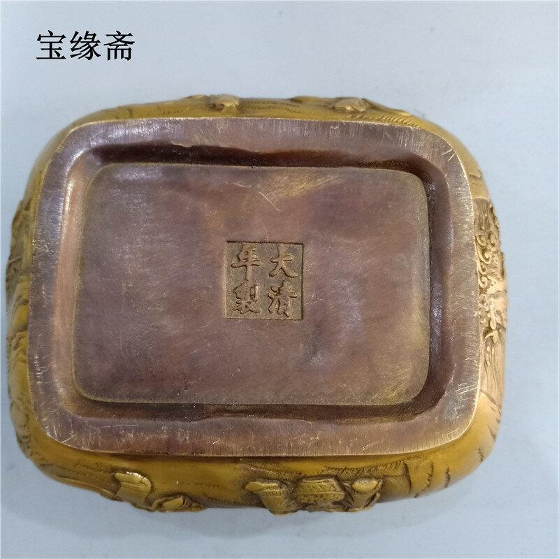 古玩銅器純銅提手爐仿古做舊香薰爐銅香爐仿古純銅懷爐純銅暖手爐