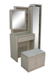 【尚品家具】802-03 莫娜白橡化妝鏡台(含椅)/化妝台/梳妝台/儀容整理桌/美麗魔鏡桌