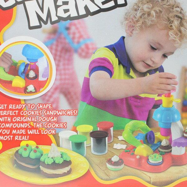 彩泥餅乾機6858A餅乾製作機彩泥組一盒入{促350}創意DIY黏土工具黏土ST安全玩具~生K2178