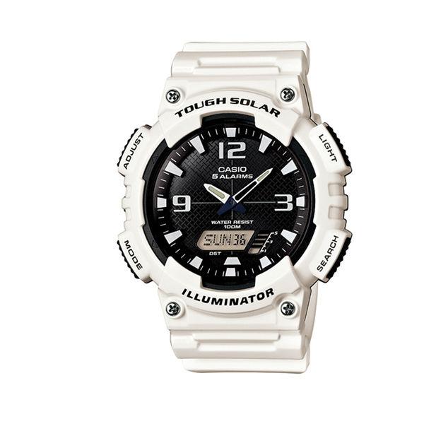 CASIO AQ-S810WC-7A玩酷時代太陽能雙顯流行腕錶/白46.6mm