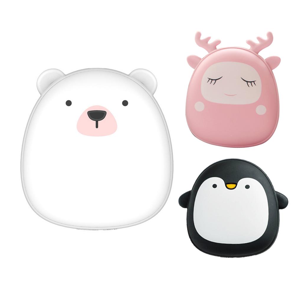 北極熊 企鹅 麋鹿 暖手寶 暖手袋 附收納袋 USB迷你 暖暖包 冬季暖手寶 生日禮物 極地物種情侶充電暖手寶 禮物 1