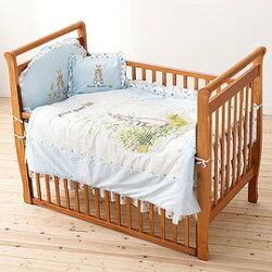 奇哥 Joie Peter Rabbit 比得兔大床+比得兔六件床組L(藍)【紫貝殼】