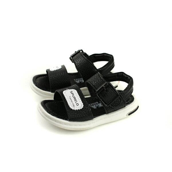 涼鞋魔鬼氈黑色小童童鞋no105