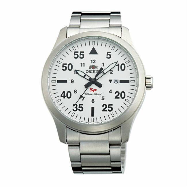 ORIENT 東方錶 SP 系列 (FUNG2002W) 飛行運動石英錶 鋼帶款 白色 42mm