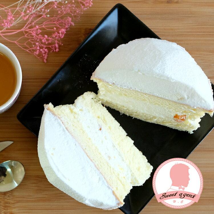 【甜點特務】[ 蘑菇波士頓派 ] 什錦水果餡+鬆軟海綿蛋糕+清新鮮奶油 2