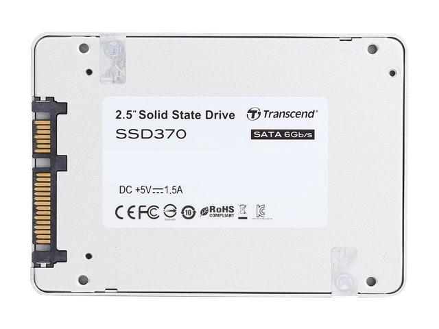"""Transcend SSD 370s 128GB SSD370 2.5"""" SATA III 6Gb/s MLC Internal Solid State Drive TS128GSSD370S 1"""