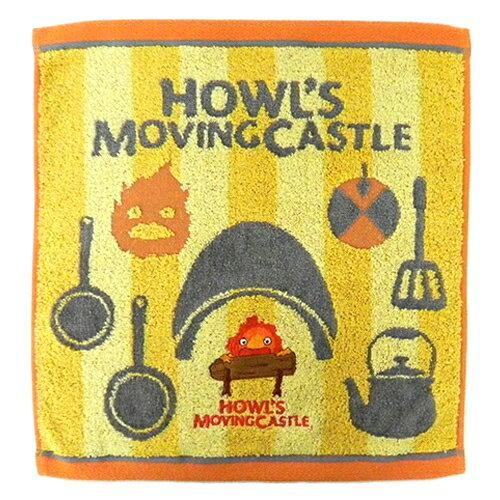 ~真愛 ~ 17052600070 純棉大方巾~卡西法黃 宮崎駿 霍兒的移動城堡 毛巾 盥