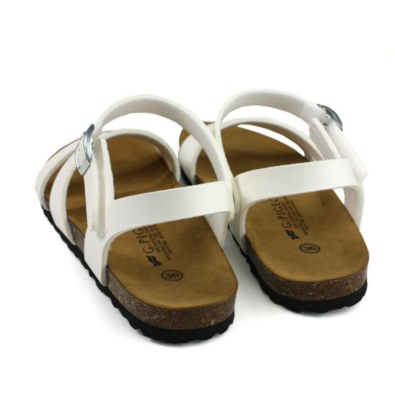 G.P 阿亮代言 涼鞋 勃肯鞋型 女鞋 白色 W713-80 no384 1