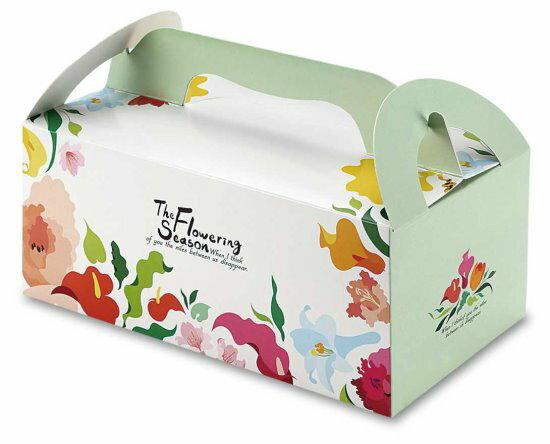 【零售量】手提大餐盒花開季節50個