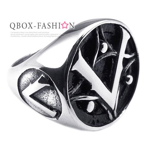 《 QBOX 》FASHION 飾品【W10025240】精緻個性光明會共濟會鑄造316L鈦鋼戒指/戒環