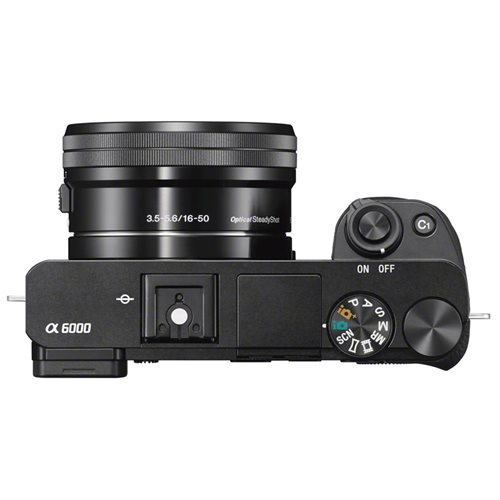 "Sony alpha a6000 24.3 Megapixel Mirrorless Camera with Lens - 16 mm - 50 mm - Black - 3"" LCD - 16:9 - 3x Optical Zoom - 4x - 6000 x 4000 Image - 1920 x 1080 Video - HDMI - HD Movie Mode - Wireless LAN International Version 2"