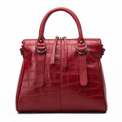 手提包真皮肩背包-高貴成熟魅力大方女包包4色73se25【獨家進口】【米蘭精品】