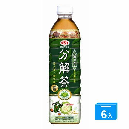 愛之味健康油切分解茶590ml*6入【愛買】
