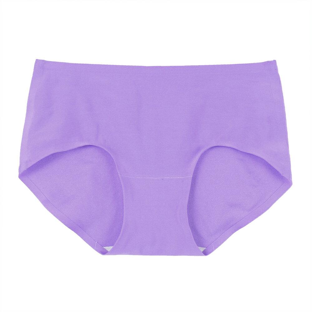 【Emon】親膚 零著感無痕三角褲(紫) 0