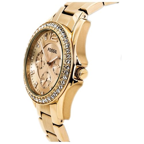 Fossil Women's ES2811 Gold Stainless-Steel Quartz Watch with Gold Dial 1