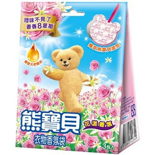 熊寶貝衣物香氛袋花漾香氛7gX3包