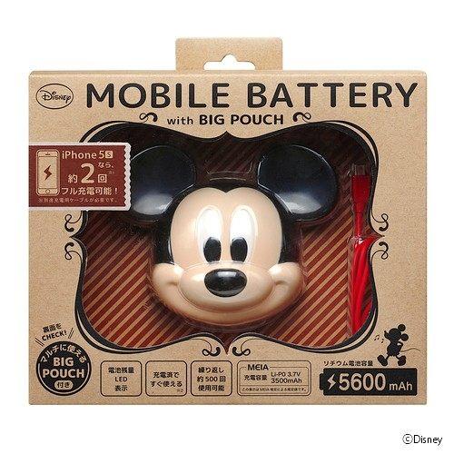 日本直送 迪士尼 Disney 人氣明星 Mickey Mouse 米老鼠 米奇 大頭造型 行動電源 5600mAh