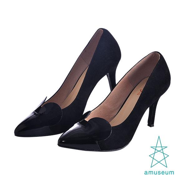 <br/><br/> Lady Micky米奇小尖頭高跟鞋 / 紳士黑<br/><br/>