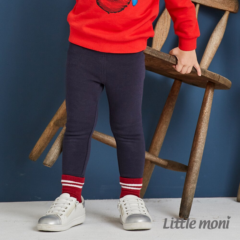Little moni 內刷毛合身褲-深藍(好窩生活節) 1