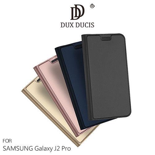 【微笑商城】SamsungGalaxyJ2ProSKINPro隱扣式側翻皮套保護套手機套磁吸側翻插卡可立皮套DUXDUCIS