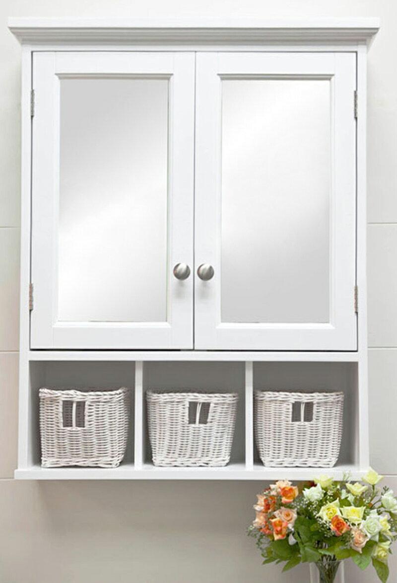 新生活傢俱!《多琳》新款浴室鏡浴室櫃穿衣鏡半身鏡化妝鏡收納櫃珠寶櫃雙