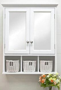 !新生活傢俱!《多琳》新款浴室鏡浴室櫃穿衣鏡半身鏡化妝鏡收納櫃珠寶櫃雙門掛牆吊掛壁掛古典北歐
