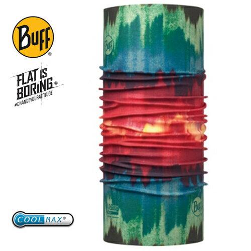 ├登山樂┤西班牙BUFFCOOLMAX抗UV頭巾-紅綠暈染#BF113621-555