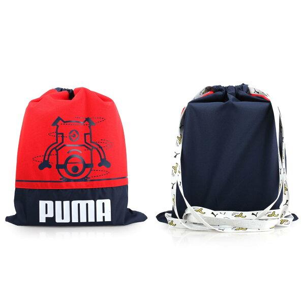 PUMA小小兵束口袋(雙肩包後背包收納袋【05481450】≡排汗專家≡