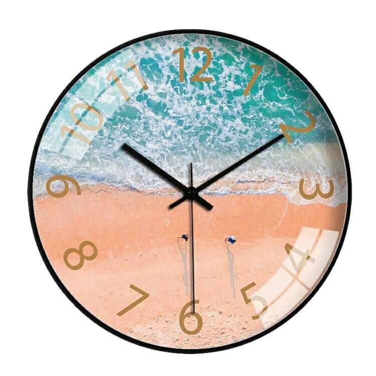 掛鐘 掛鐘北歐客廳臥室鐘錶個性創意時鐘簡約ing網紅鐘石英鐘家用靜
