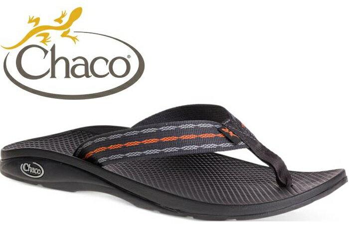 Chaco夾腳拖鞋/海灘拖/戶外運動涼鞋-沙灘款 男 美國佳扣 CH-ETM01 HC61 黑夜橘鍊