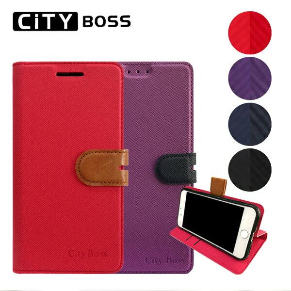 CITYBOSS繽紛撞色混搭6吋HTCU12Life手機套側掀磁扣皮套保護套背蓋支架手機殼保護殼卡片夾可站立TIS購物館